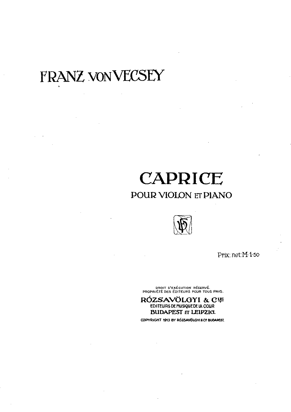 PMLP97444-Vecsey - Caprice for Violin and Piano.pdf
