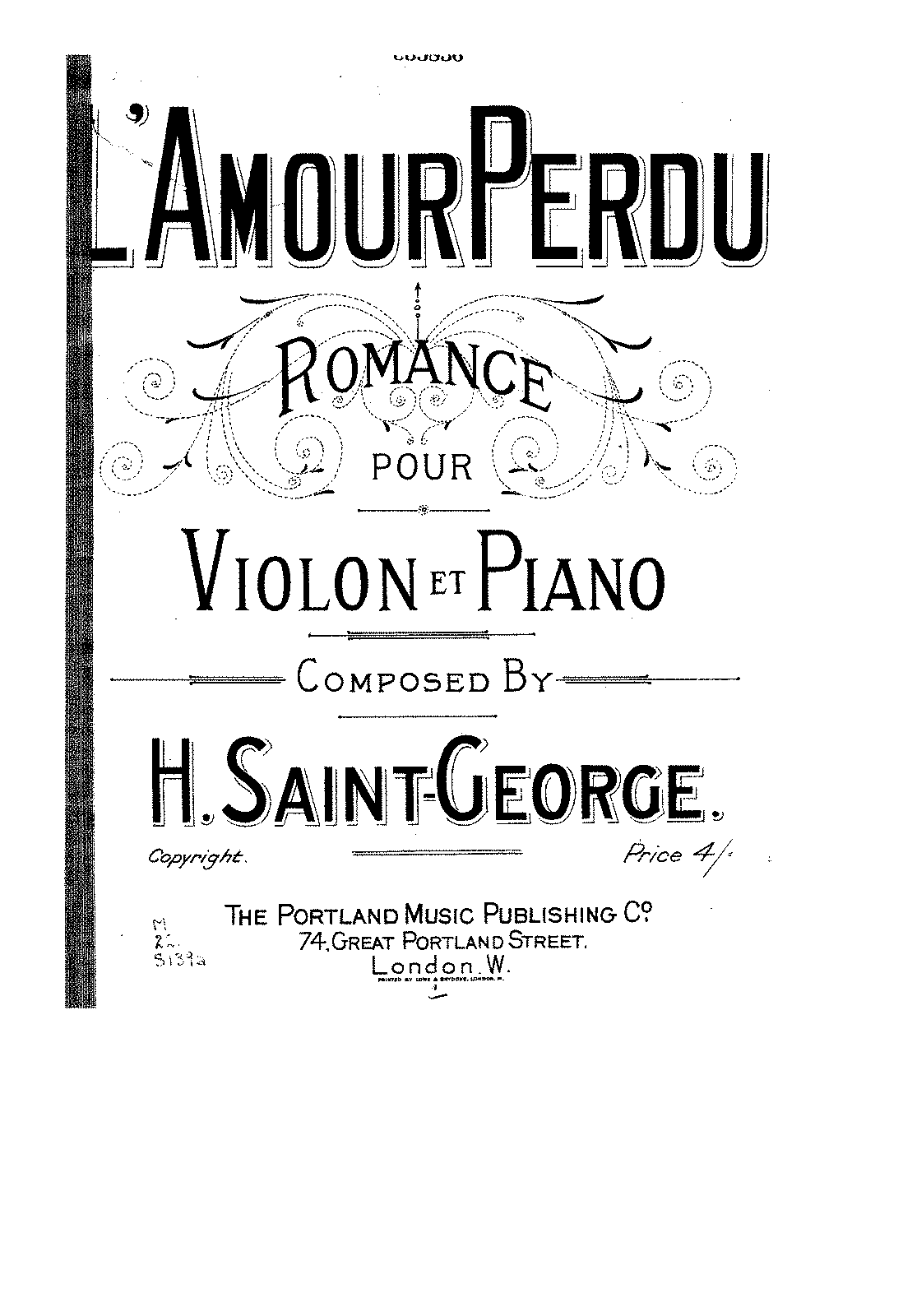 PMLP130699-Saint-George - L'amour perdu - Romance for violin and piano score.pdf