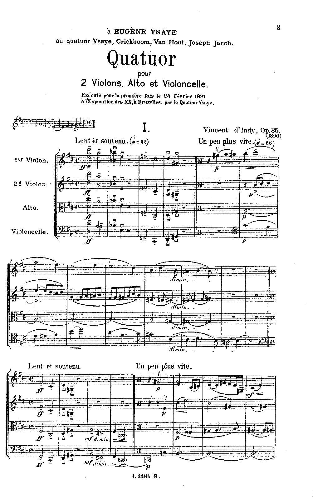 D'Indy - String Quartet No. 1, Op. 35 (score).pdf
