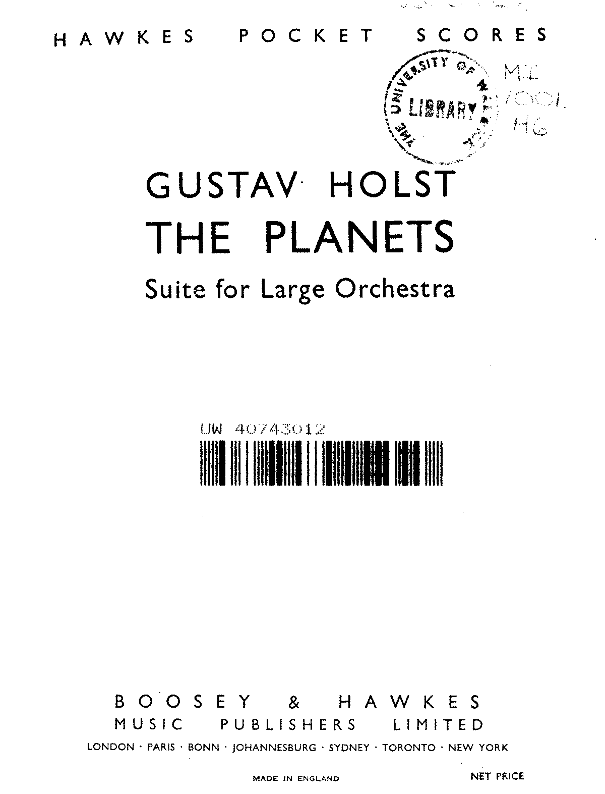 Holst - THE PLANETS - Suite for Large Orchestra - Partitur.pdf