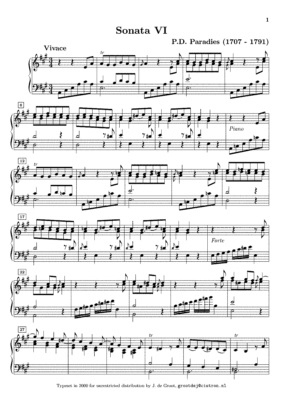 Paradies - Cembalo (Keyboard) Sonata No.6.pdf