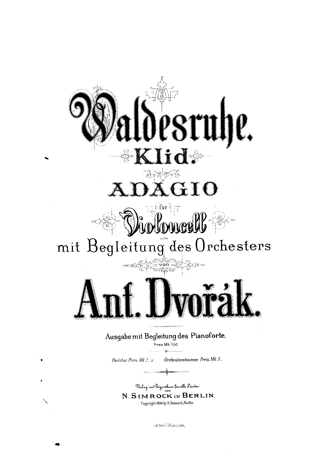 PMLP29707-Dvorak - Waldesruhe Klid Adagio for Cello and Orchestra (Dvorak) score.pdf