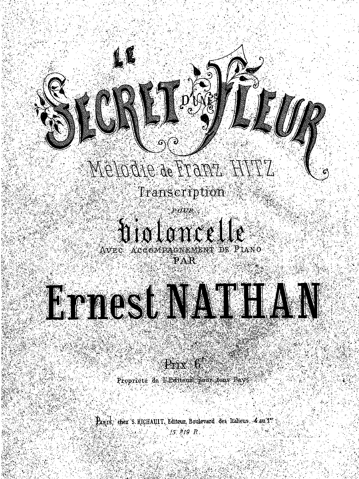 PMLP429422-Hitz.F - Le secret d'une fleur (transcr Ernest Nathan) for cello and piano PNO.pdf
