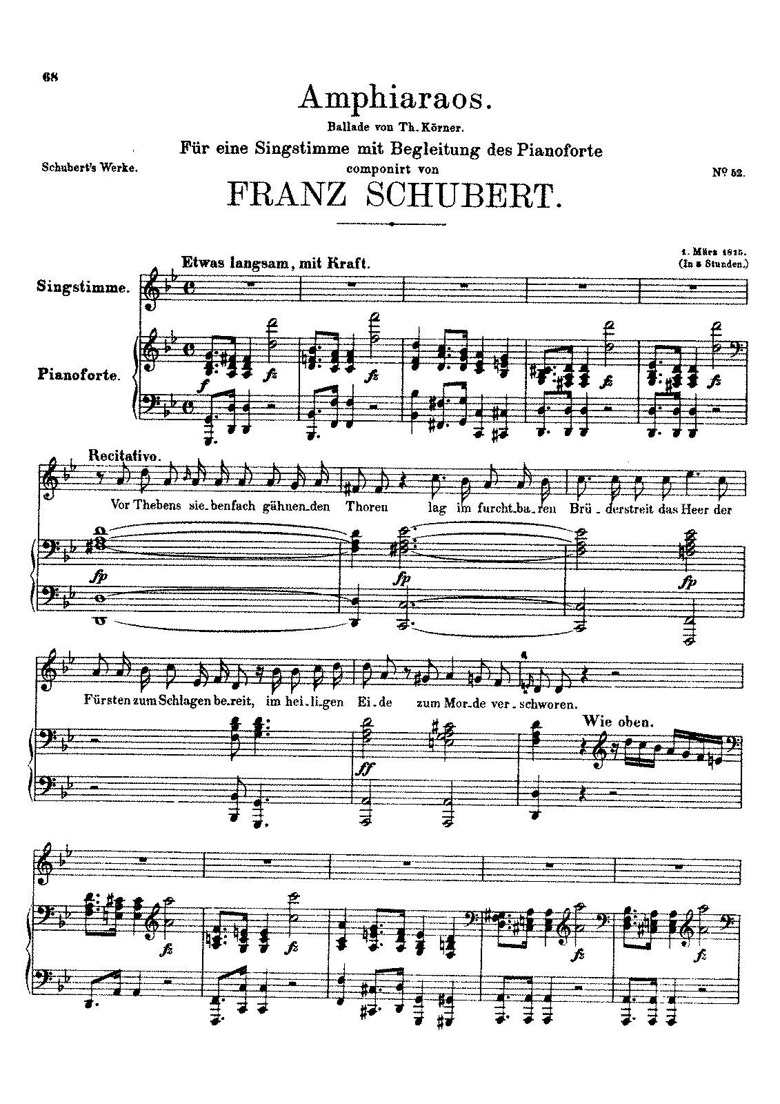 Amphiaraos, D.166 (Schubert, Franz) - IMSLP/Petrucci Music Library ...