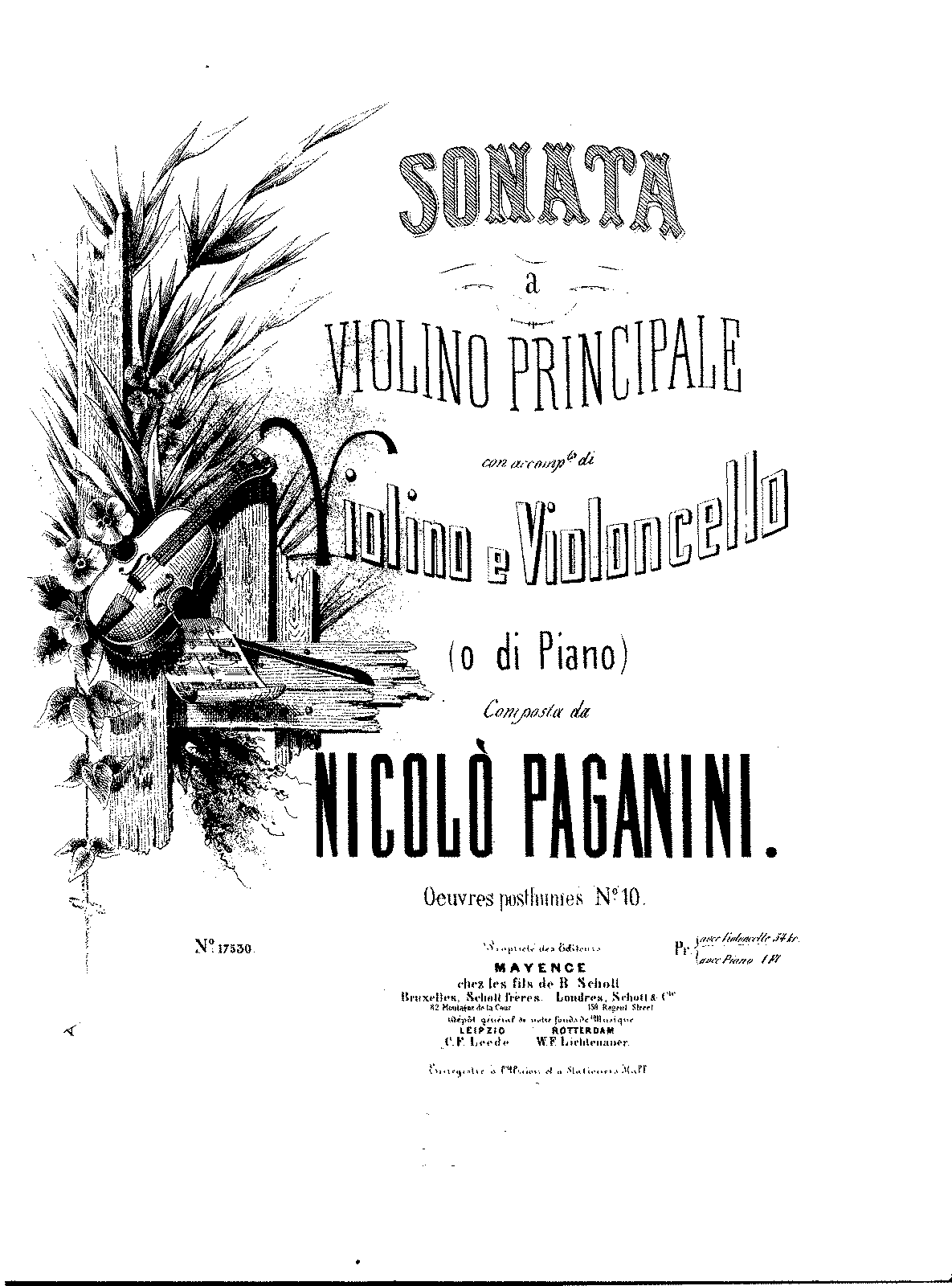PMLP189769-Paganini - Sonata for Violin principal accom by violin and cello (or piano) Op posthumes No10 violin1.pdf