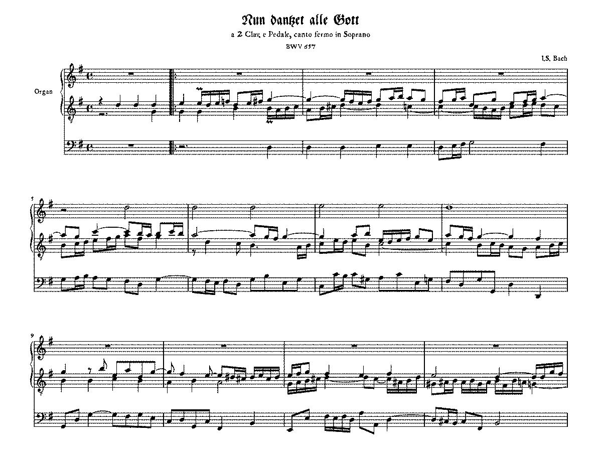 List of chorale harmonisations by Johann Sebastian Bach