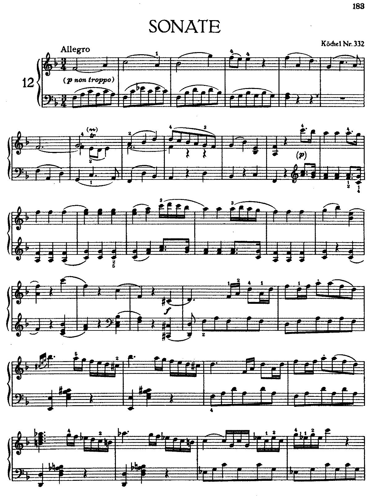 K. 332 First Movement Analysis