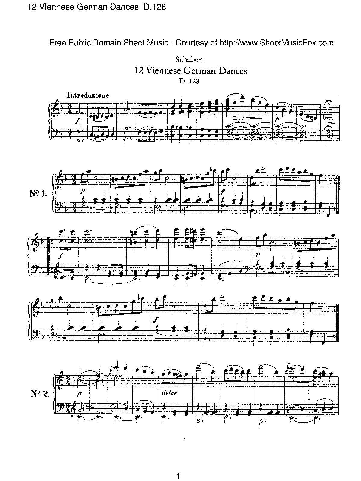 Schubert - 12 Viennese German Dances, D.128.pdf