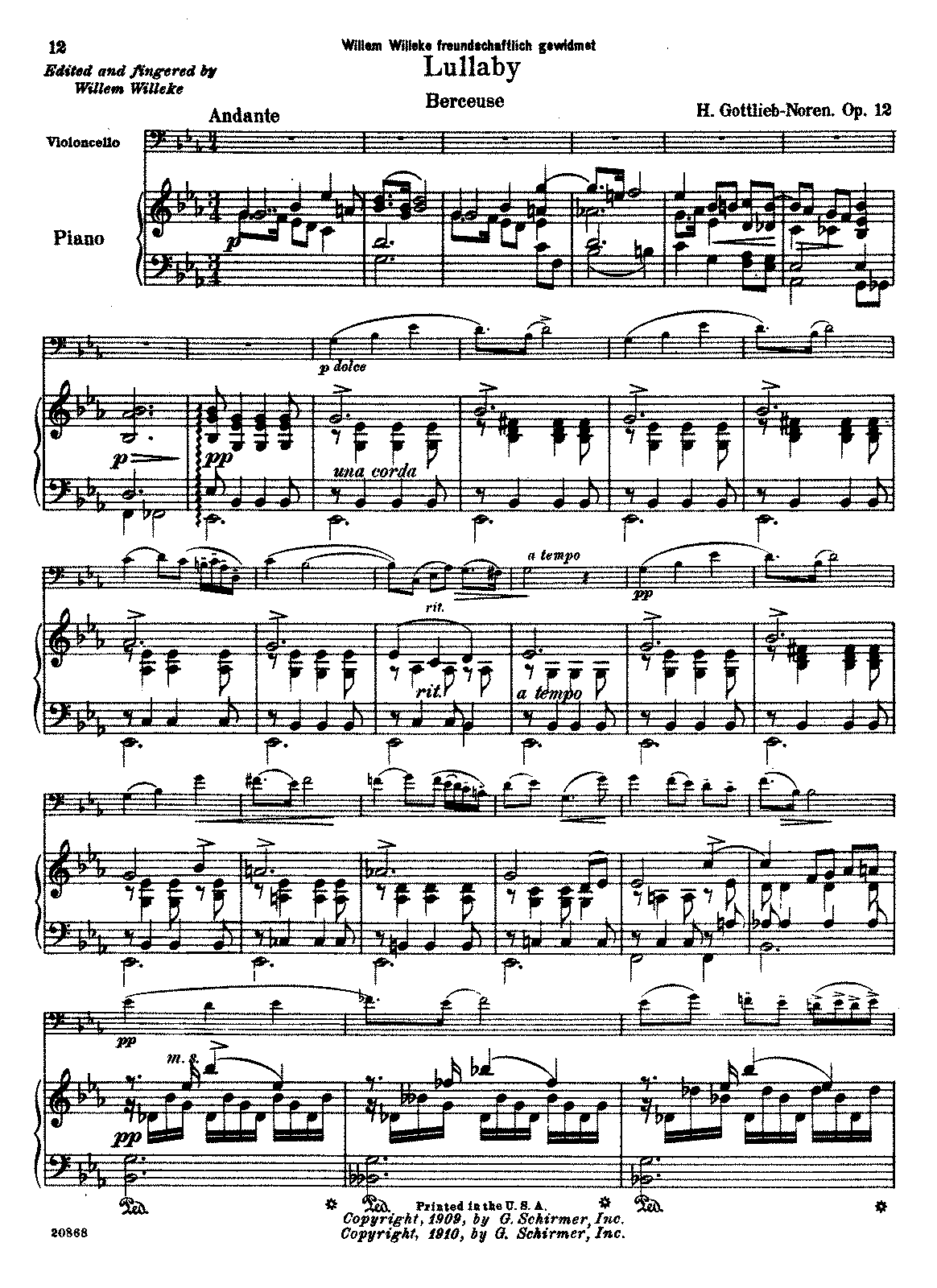 PMLP236795-Gottlieb-Noren - Lullaby Berceuse Op12 (Willeke) for cello and piano.pdf