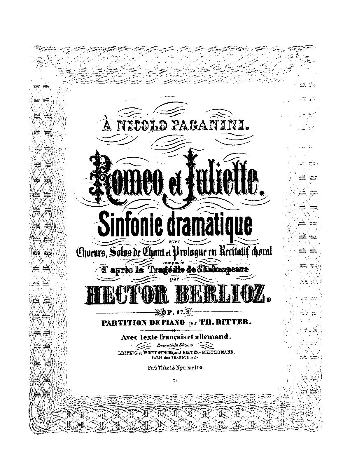 aimer romeo et juliette sheet music pdf