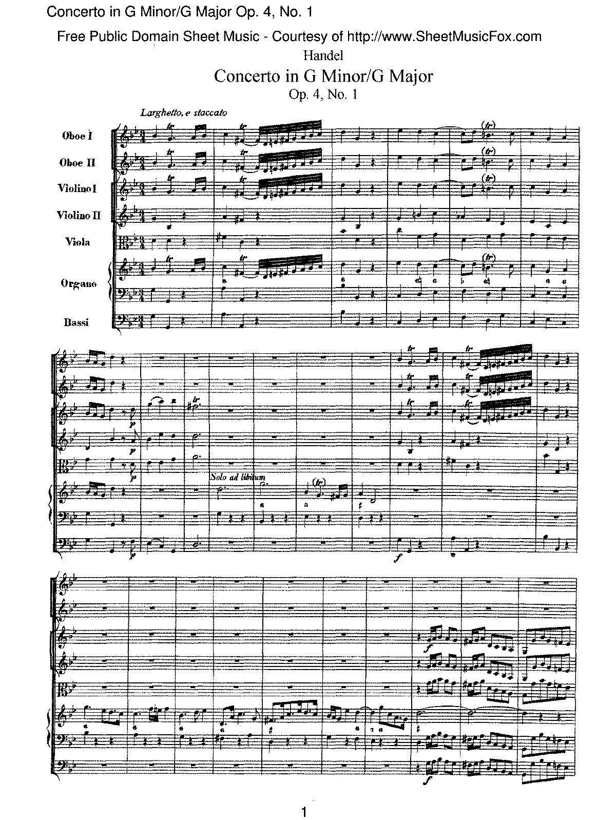Handel - Concerto in G Minor-G major, Op. 4 No. 1.pdf