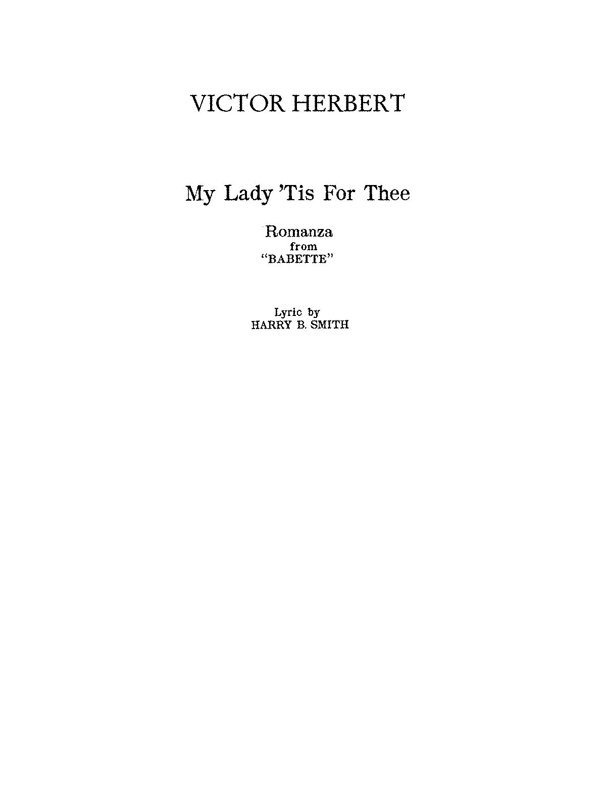 PMLP170093-HERBERT My Lady 'Tis for Thee from 'Babette'.pdf