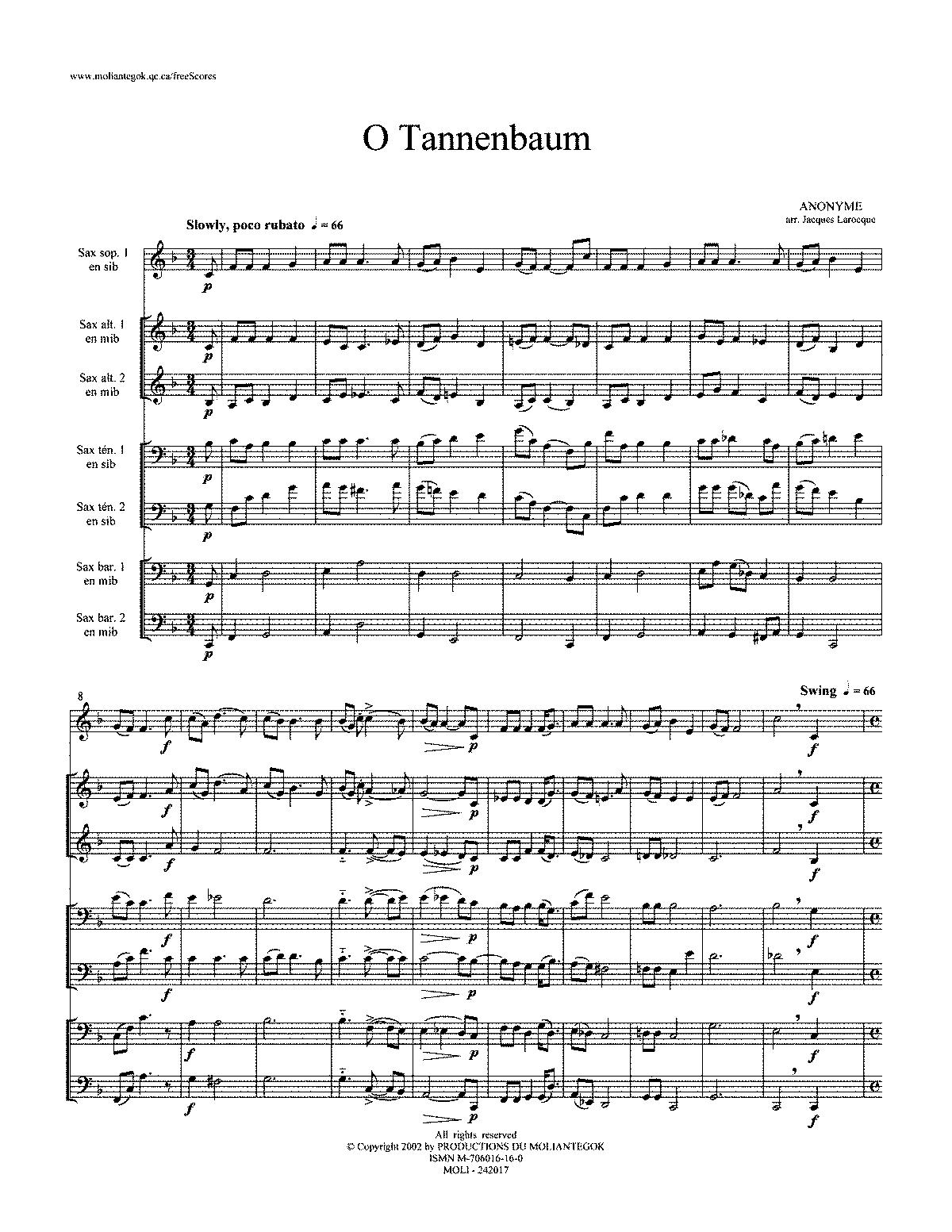 O Tannenbaum Sheet Music - Фото база