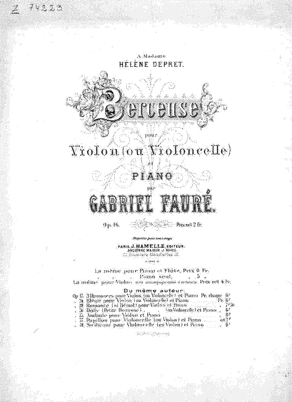 Faure - Op.16 - Berceuse for Vln and Pno.pdf