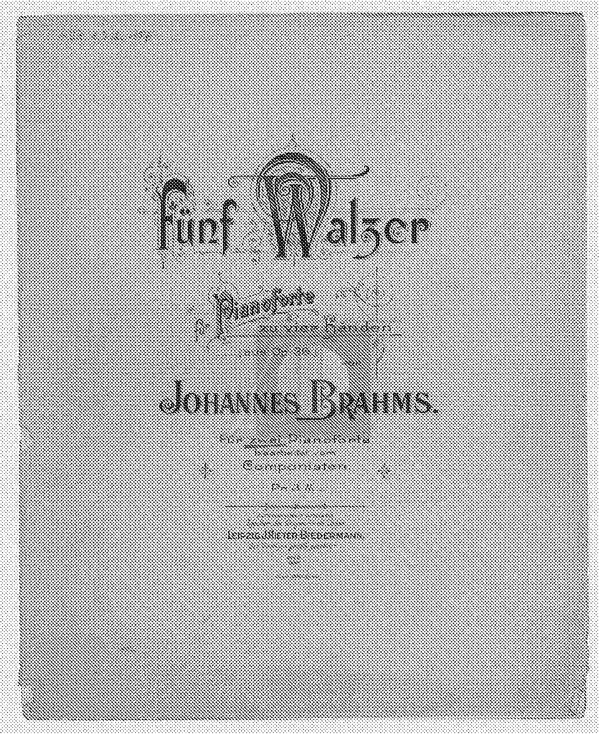 Free Sheet Music Public Domain: 16 Waltzes, Op.39 (Brahms, Johannes)