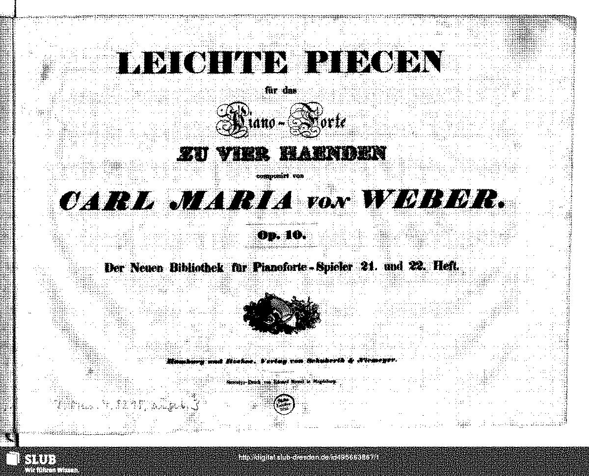 6 Pièces, Op.10a (Weber, Carl Maria von) - IMSLP/Petrucci Music ...