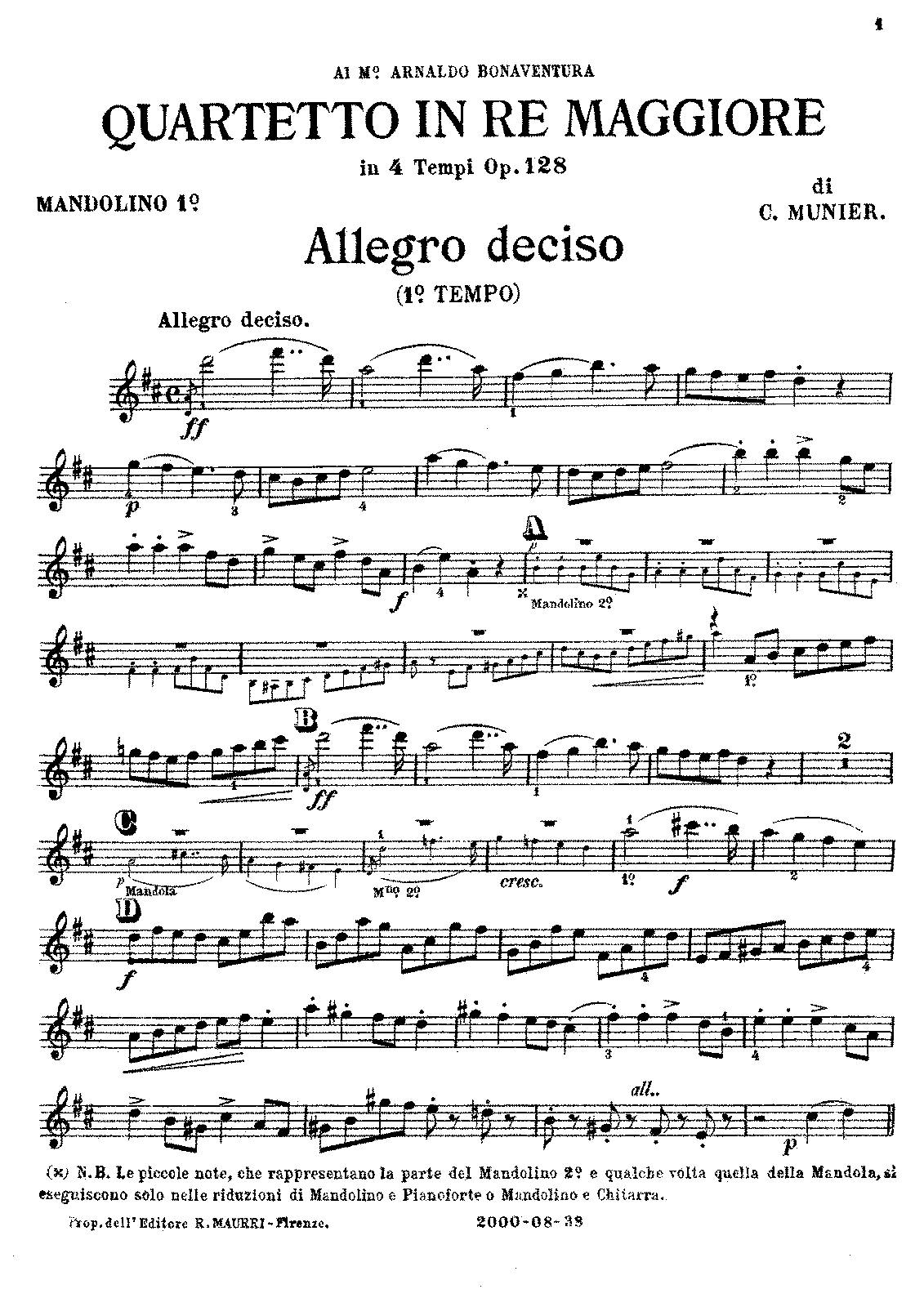 PMLP636496-Quartetto in Re Maggiore in 4 Tempi Op.128, C.Munier Mandolino 1º..pdf