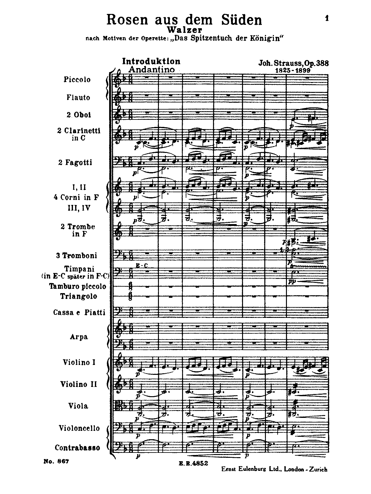PMLP22613-Strauss, Johann - Roses in the South, Op. 388 (orch. score).pdf