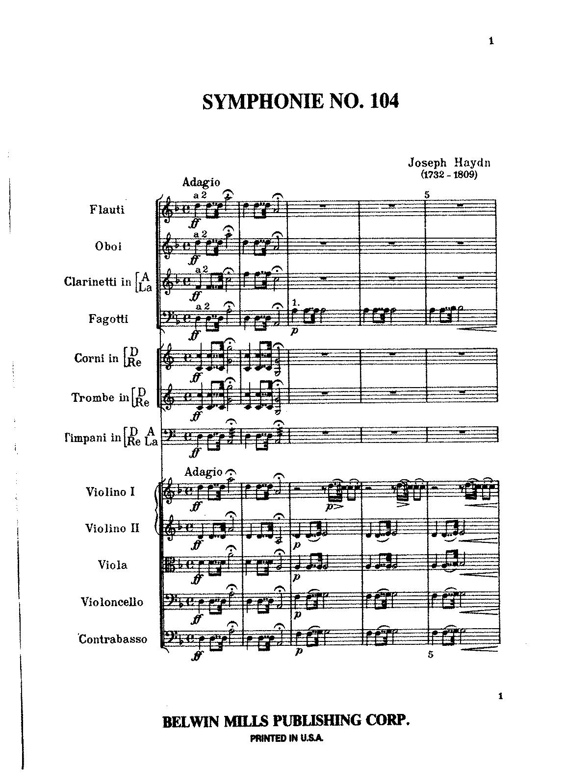 Haydn Symphonies Download Free