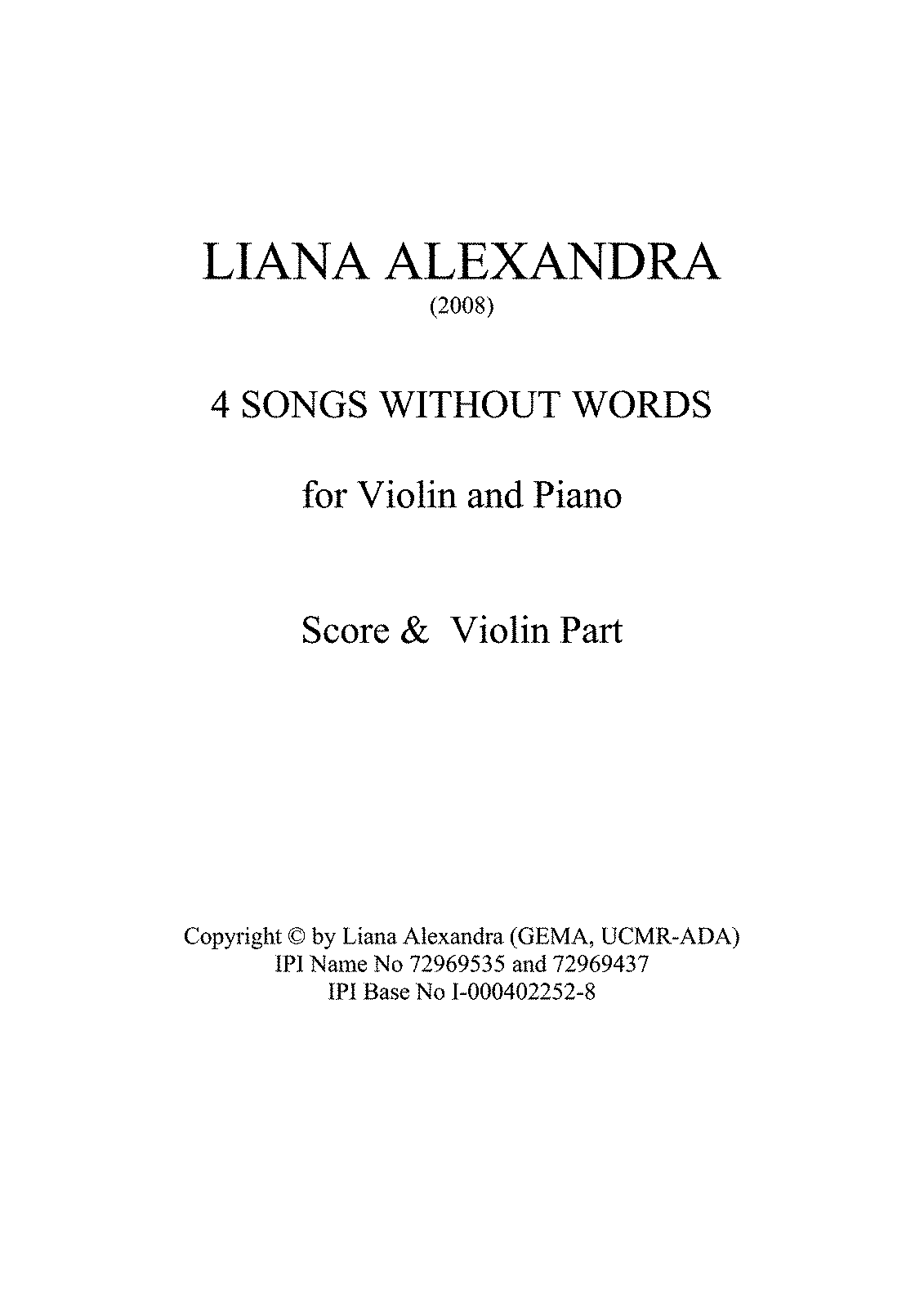 PMLP564047-LianaAlexandra 4SongsWithoutWords Violin&Piano score&part A4.pdf
