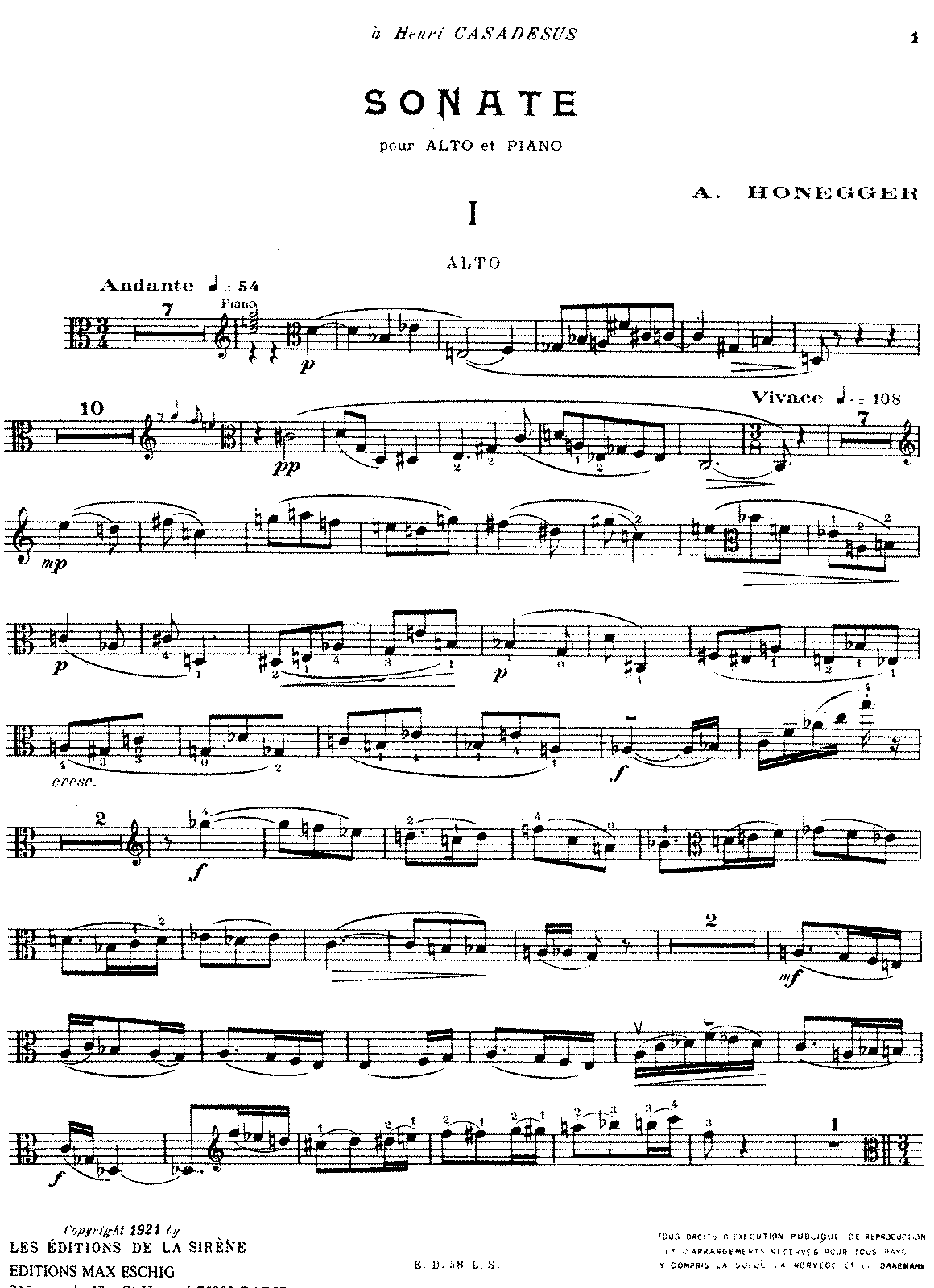 Honegger - Sonata for Viola and Piano.pdf
