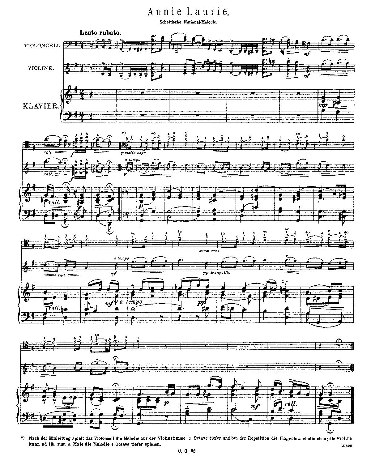 annie laurie piano sheet music pdf