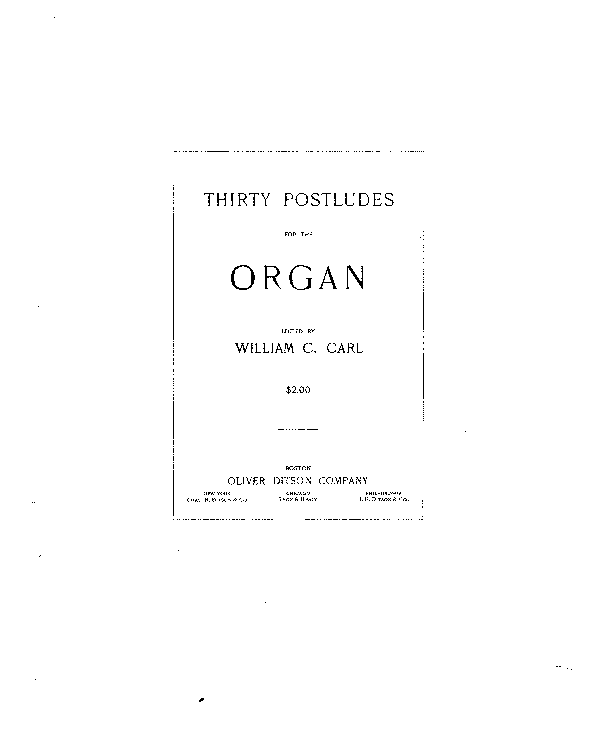 postludes for organ free sheet