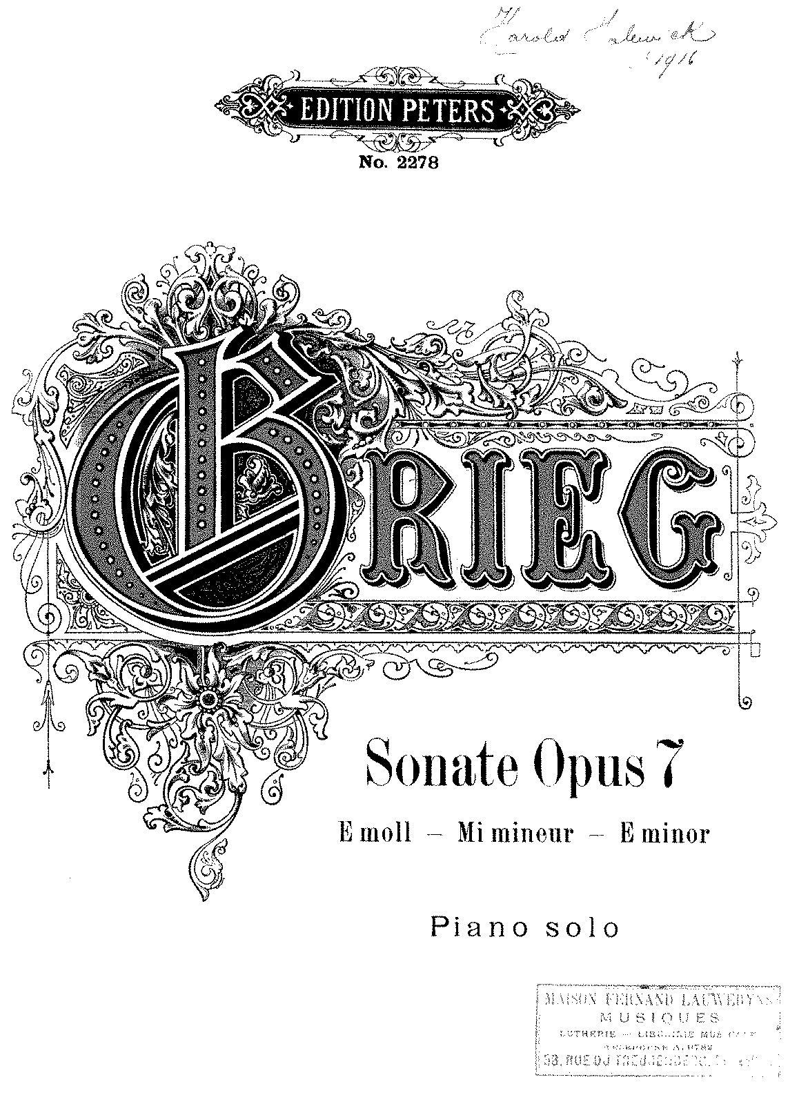 Grieg - Piano Sonata Op.7 peters.pdf