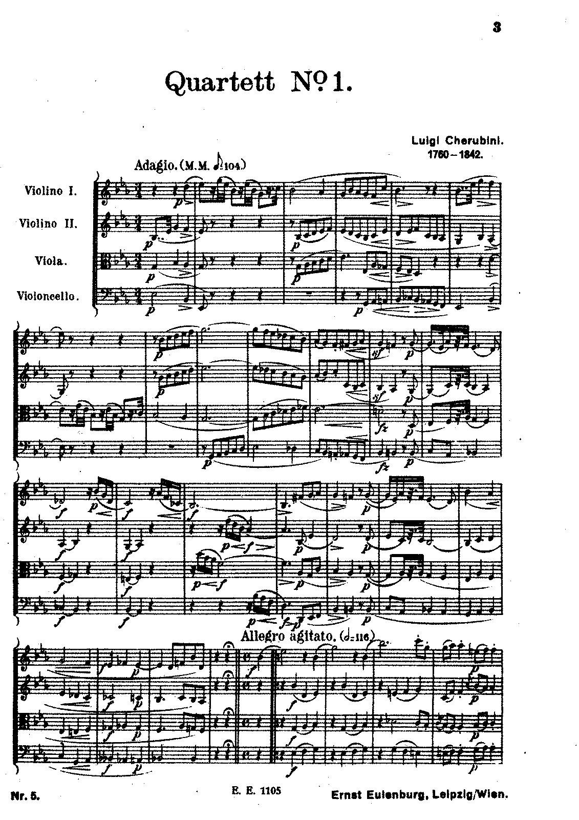 Cherubini String Quartet No.1 in E Flat.pdf