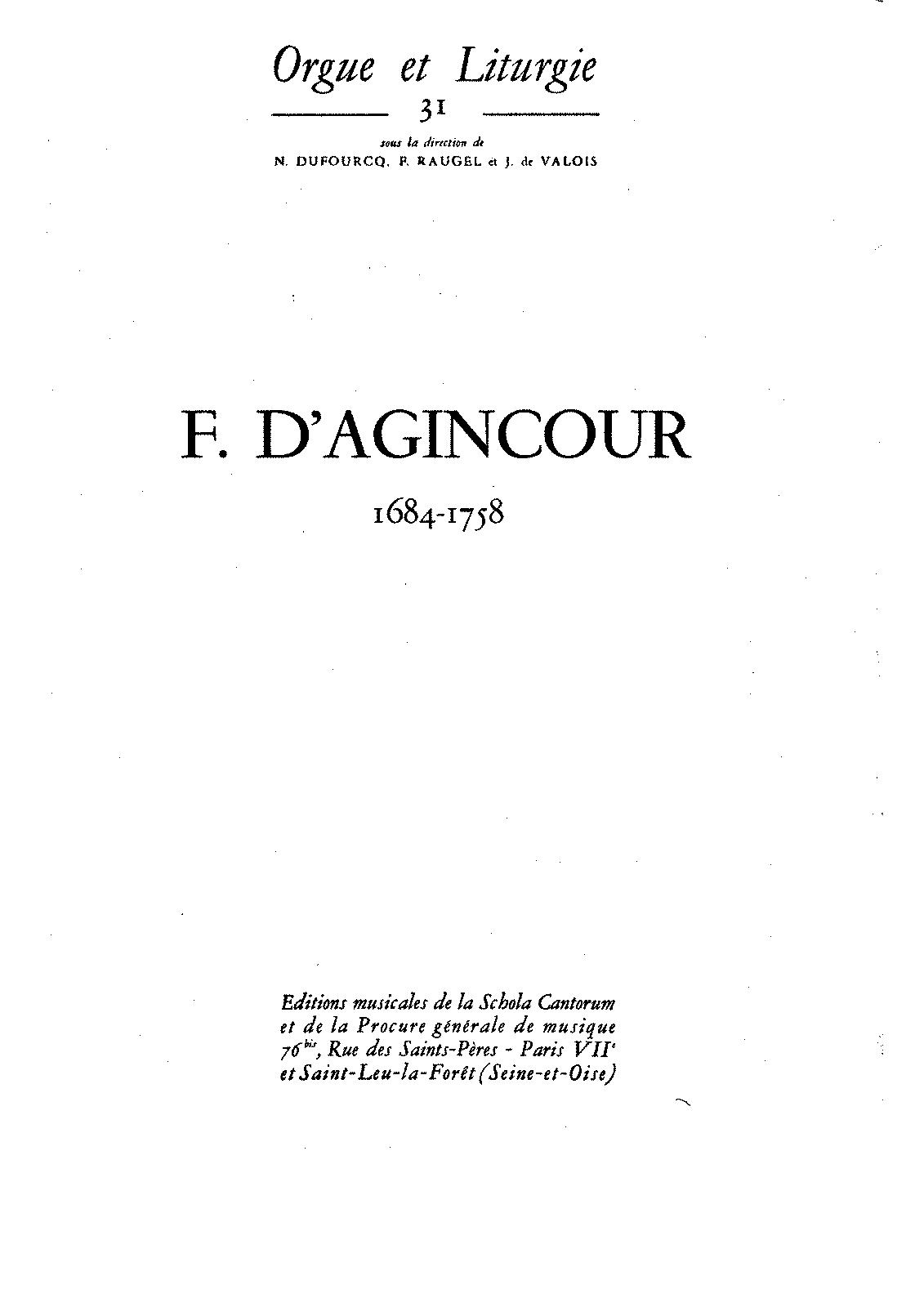 pieces d orgue agincour francois d petrucci music  pieces d orgue agincour francois d petrucci music library public sheet music