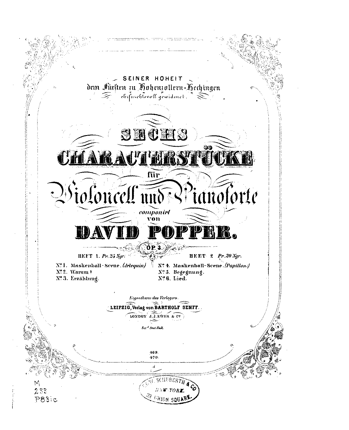 PMLP46465-Popper - Papillon, Begegnung, Lied Op3 for Cello and Piano score.pdf