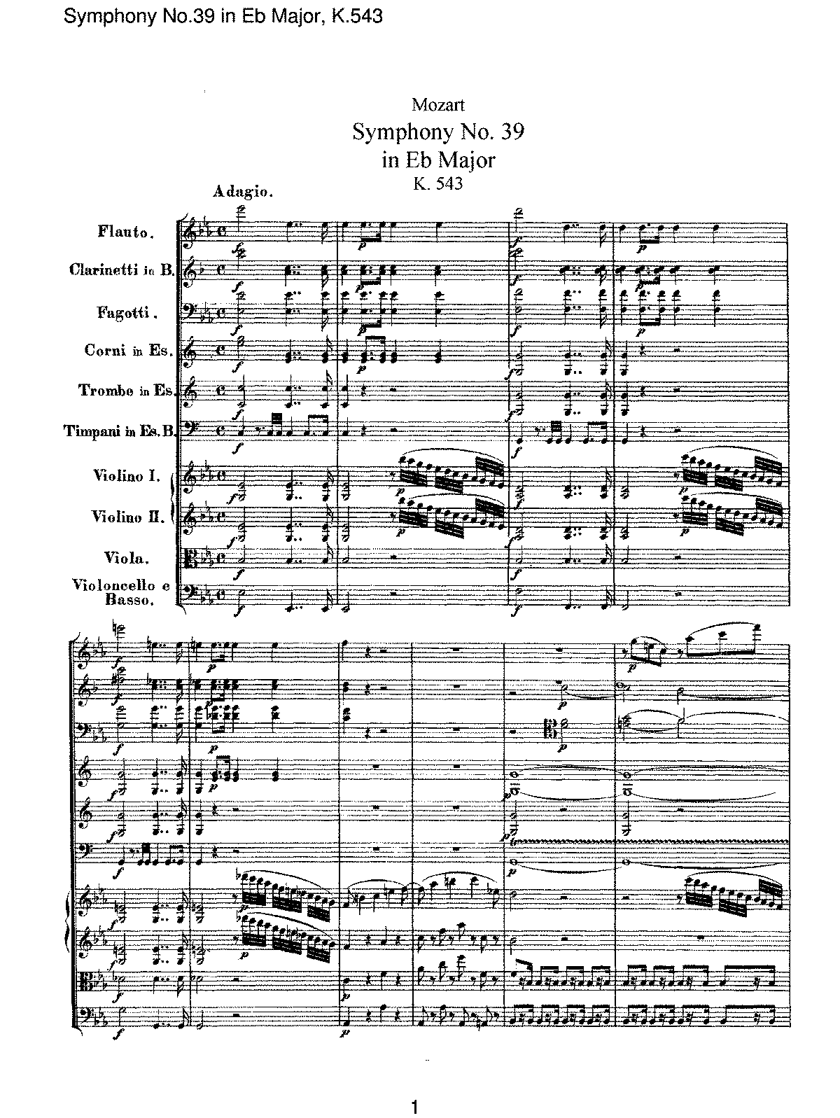 Mozart - Symphony No 39 in Eb Major, K.543.pdf