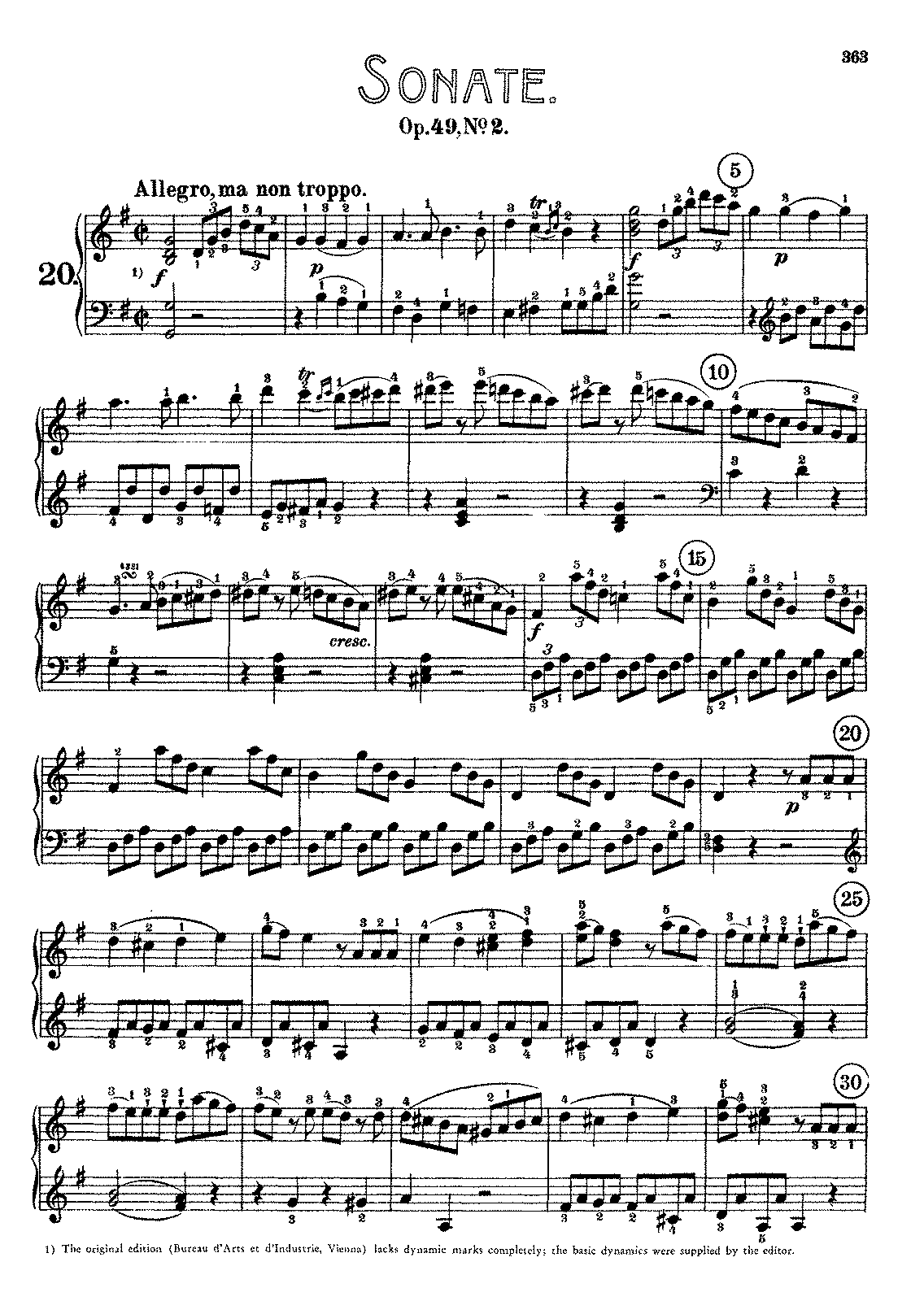 beethoven sonata no 27 Nicht zu geschwind und sehr singbar vorzutragen although beethoven had written nothing for the piano for five years, this sonata, op 90 (1814), has more kinship with the last group of.