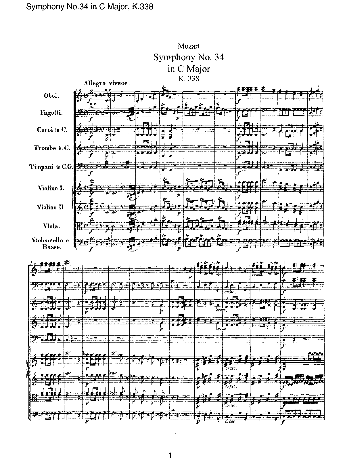Mozart - Symphony No 34 in C Major, K338.pdf