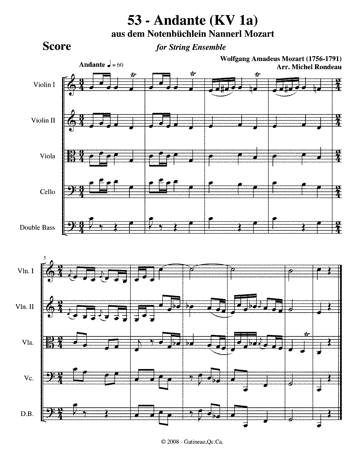 What was mozarts fist composition