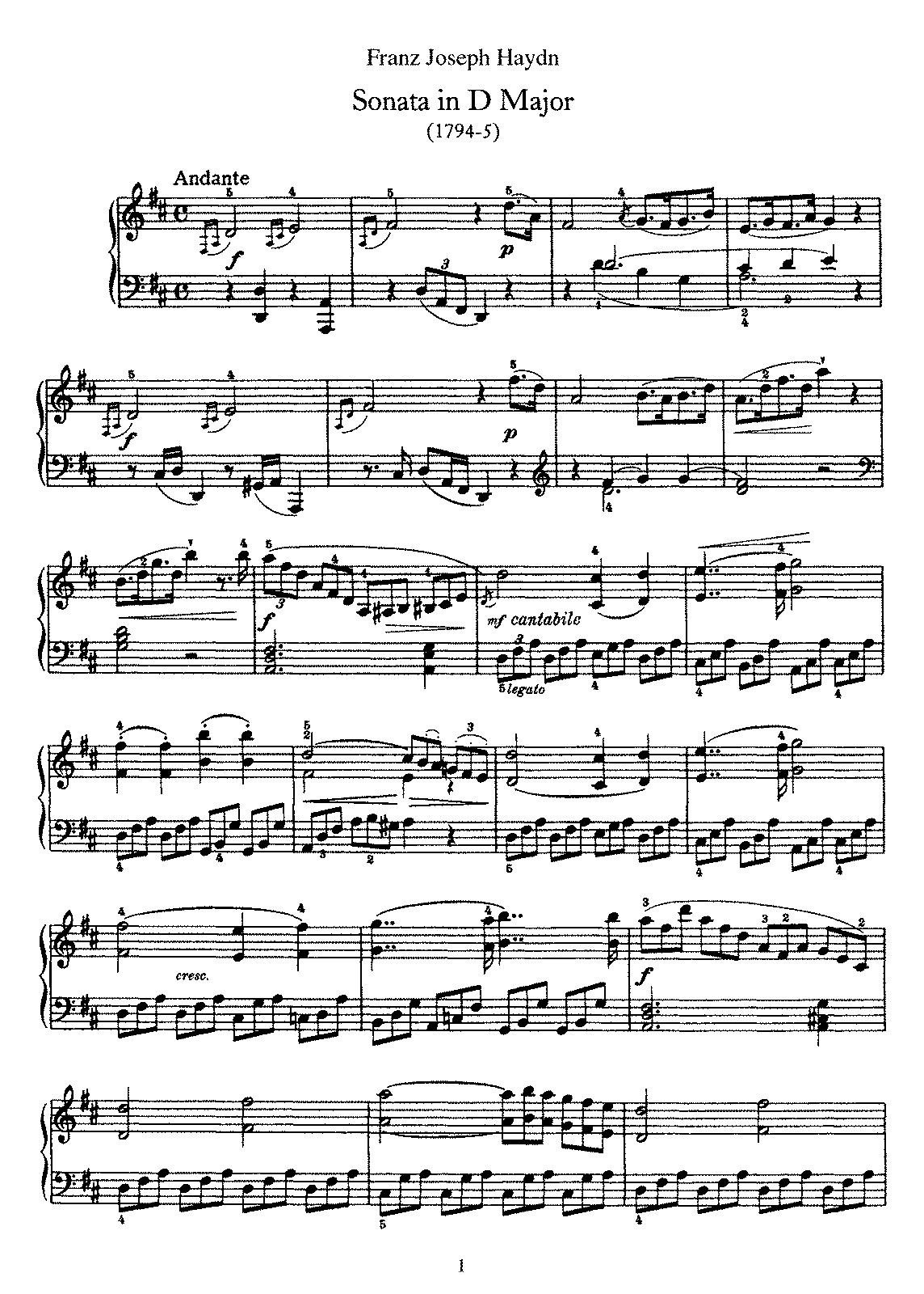 Haydn - Piano Sonata No 51 in D.pdf