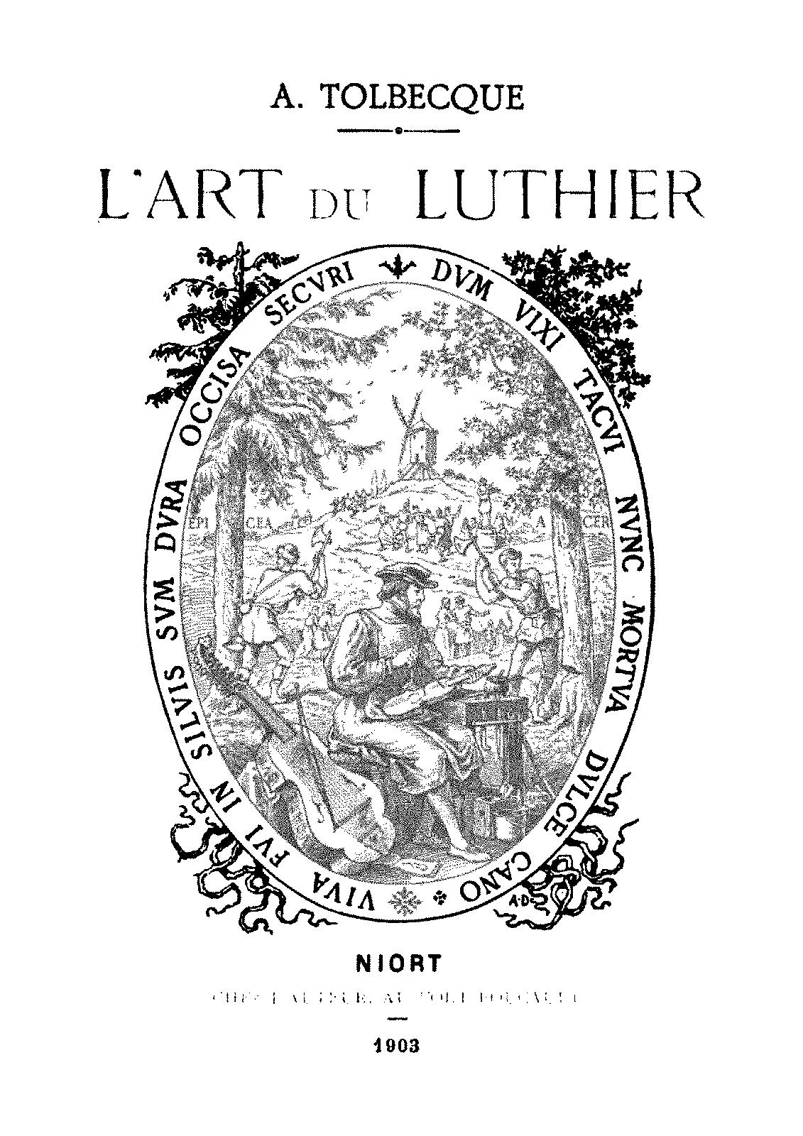 l u0026 39 art du luthier  tolbecque  auguste   petrucci