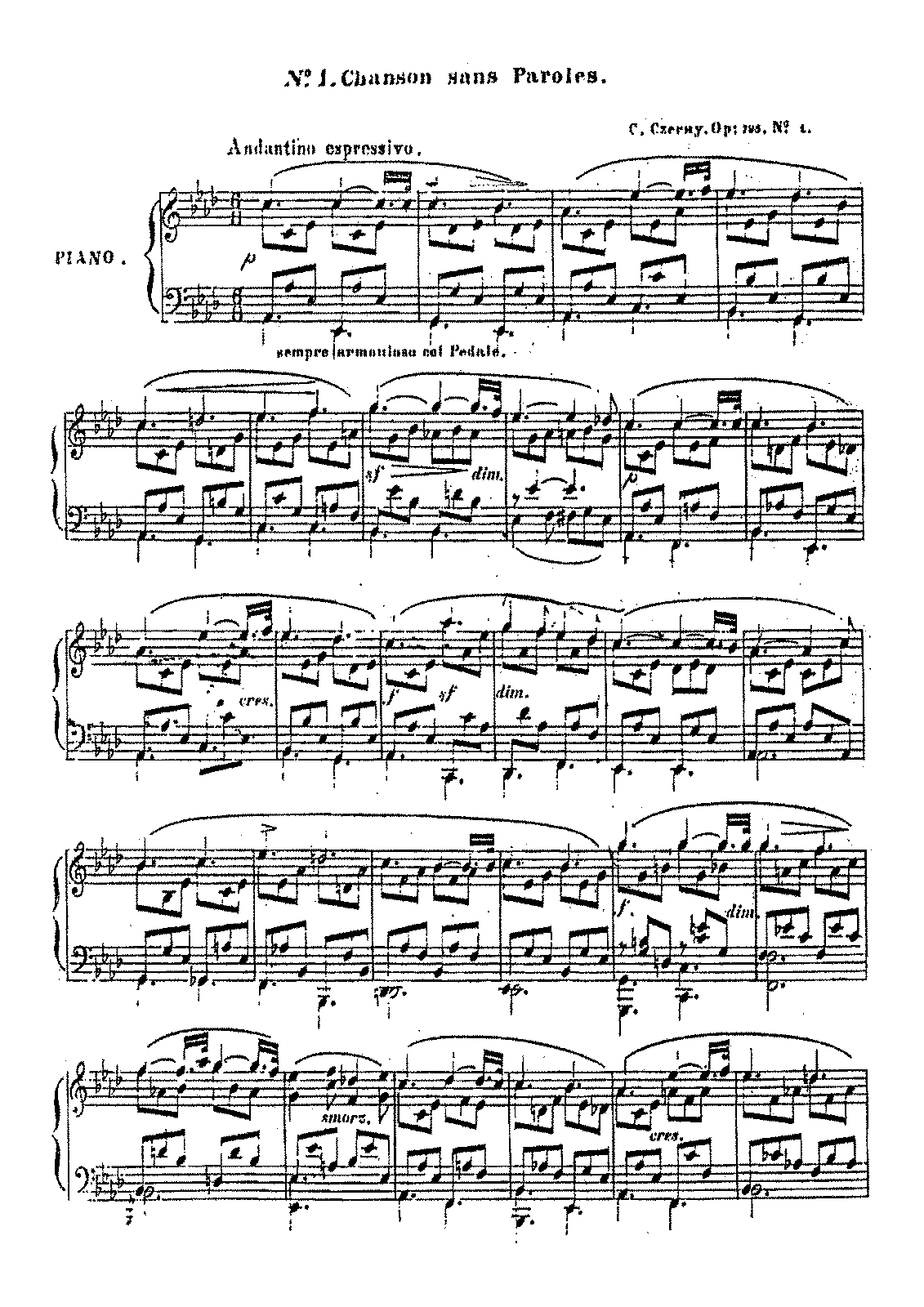PMLP230291-Czerny - 795 8 Morceaux de Salon Op.795 No.1 Chanson sans Paroles.pdf