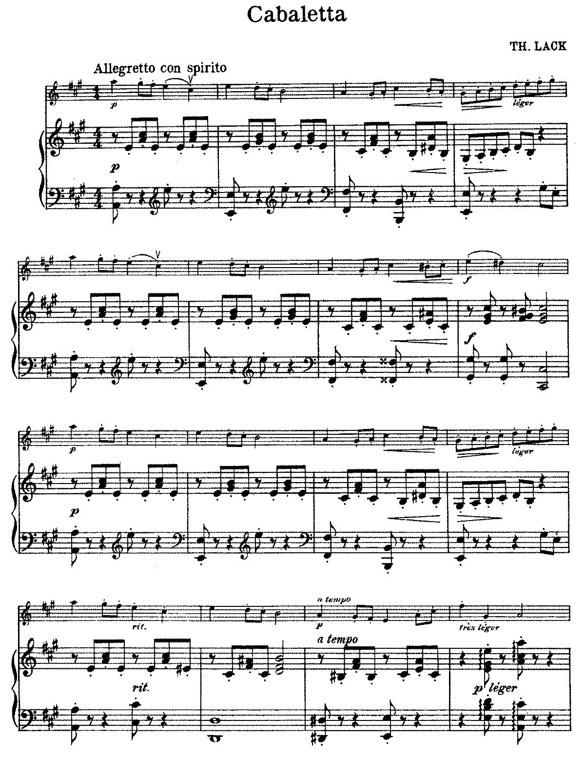 Cabaletta, Op.83 (Lack, Théodore) - IMSLP/Petrucci Music ... Theodore Lack