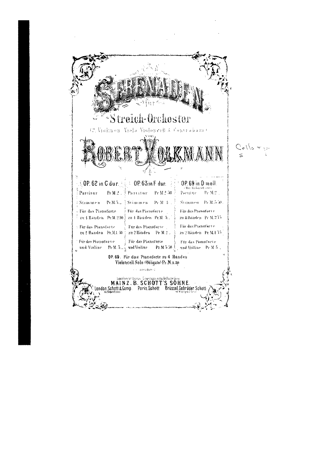 PMLP92542-Volkmann - Serenade No3 Op69 in D Major for Cello and 4hands Piano (Kossmaly) pianos.pdf