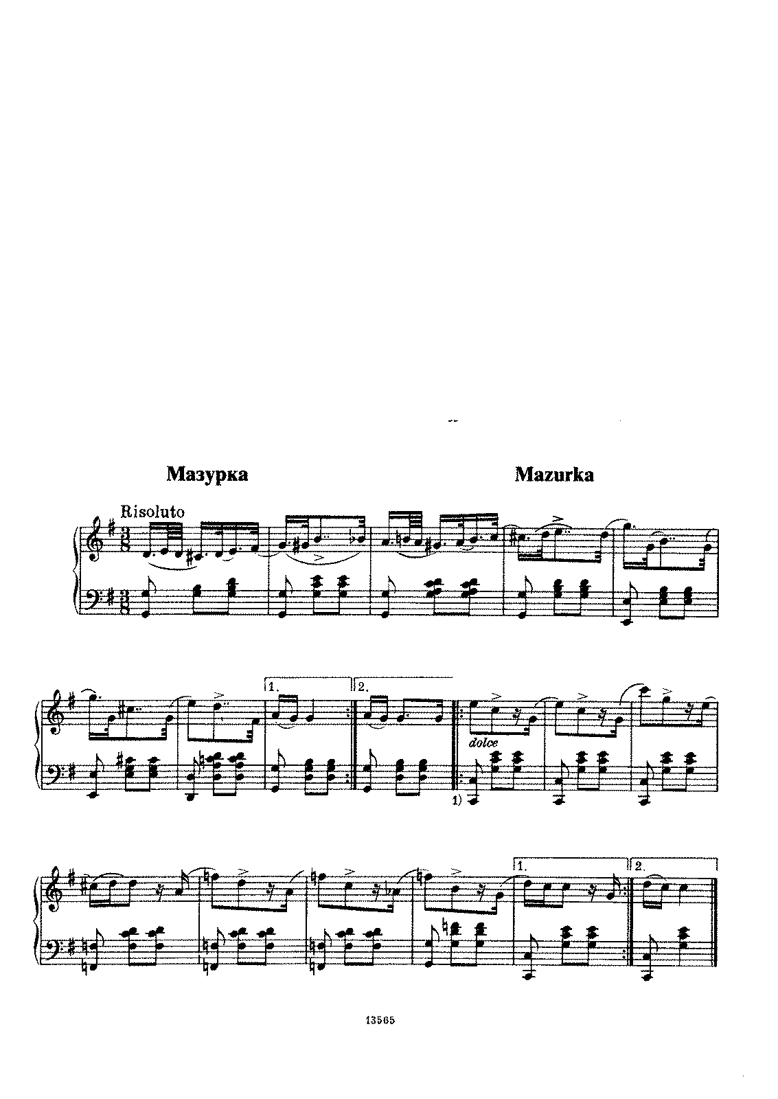 Glinka - Mazurka in G Major.pdf