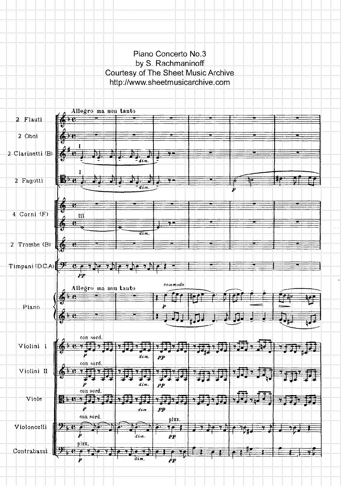 Piano Concerto No.3, Op.30 (Rachmaninoff, Sergei) - IMSLP/Petrucci ...