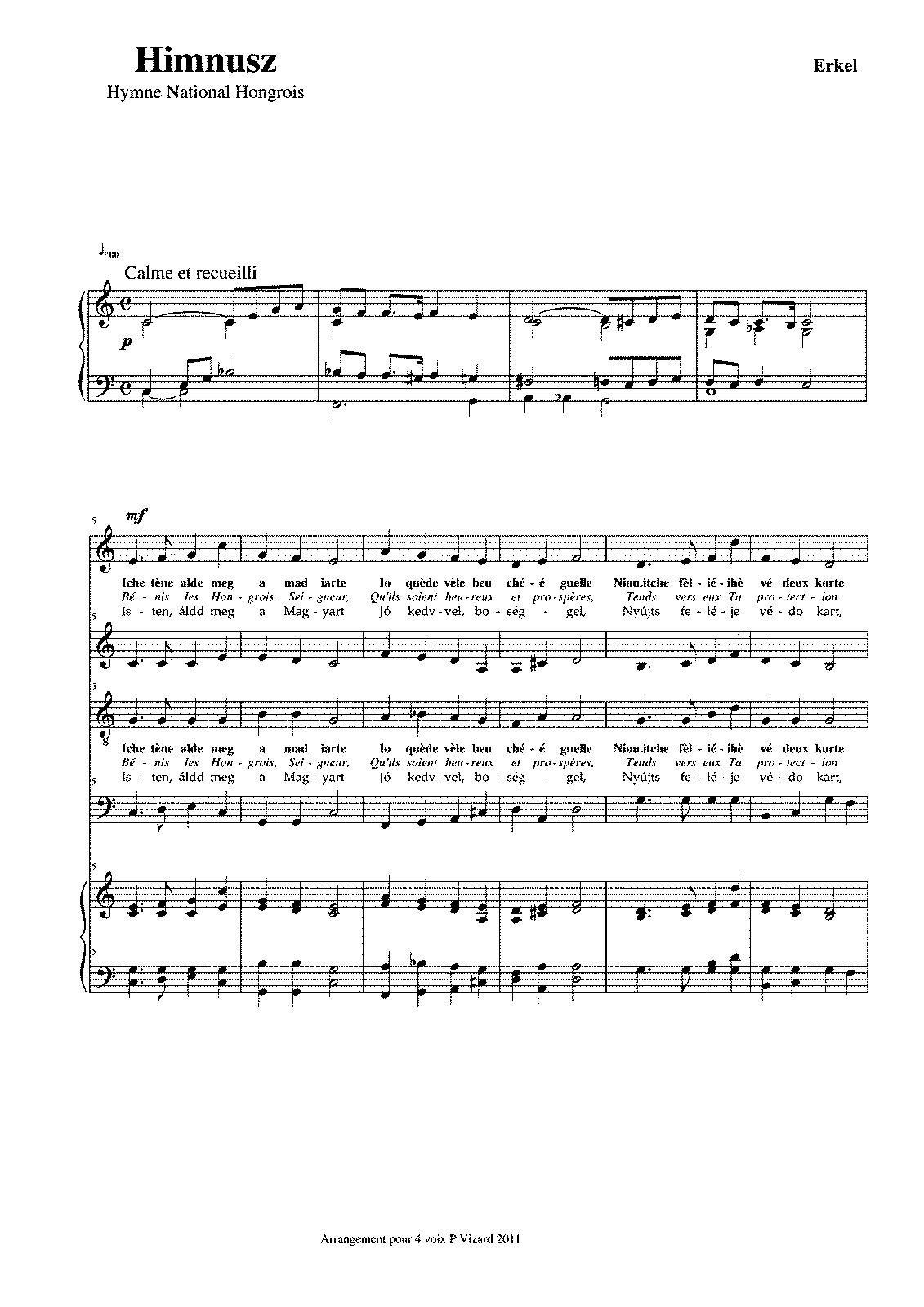 For Mixed Chorus And Piano Vizard