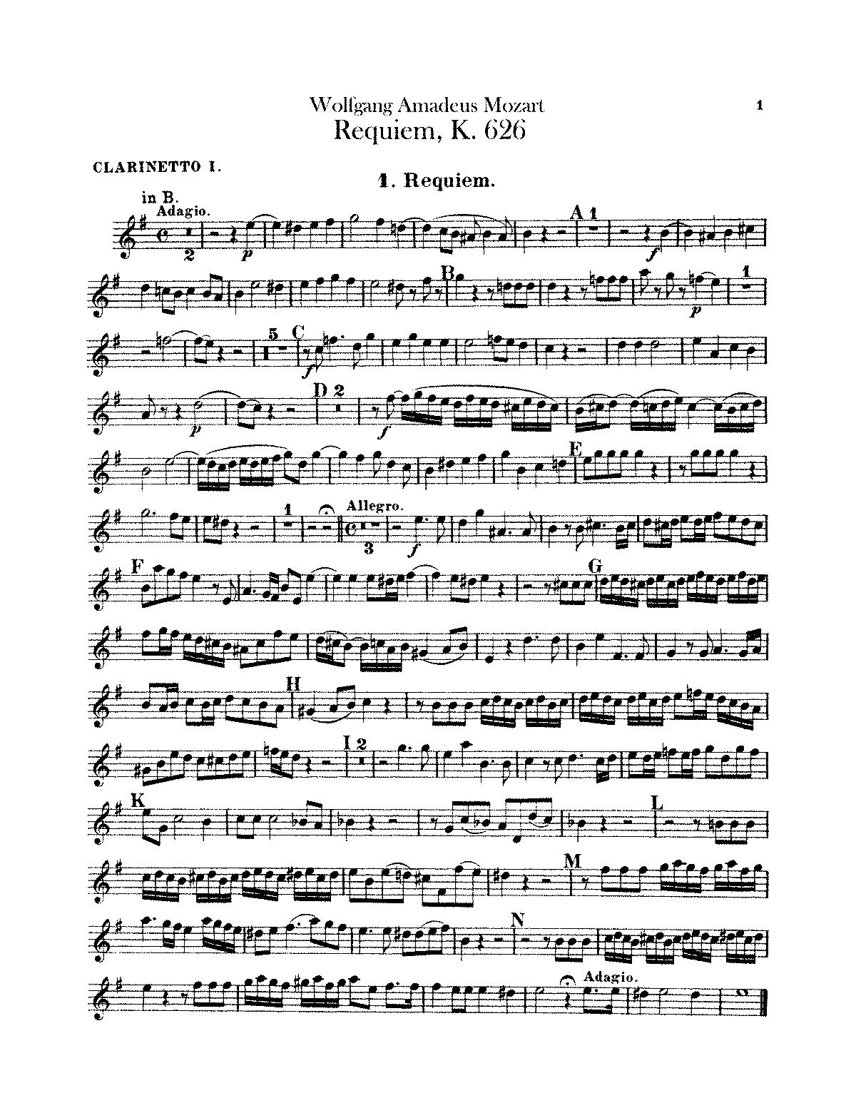 Requiem in d minor, (mozart, wolfgang amadeus)