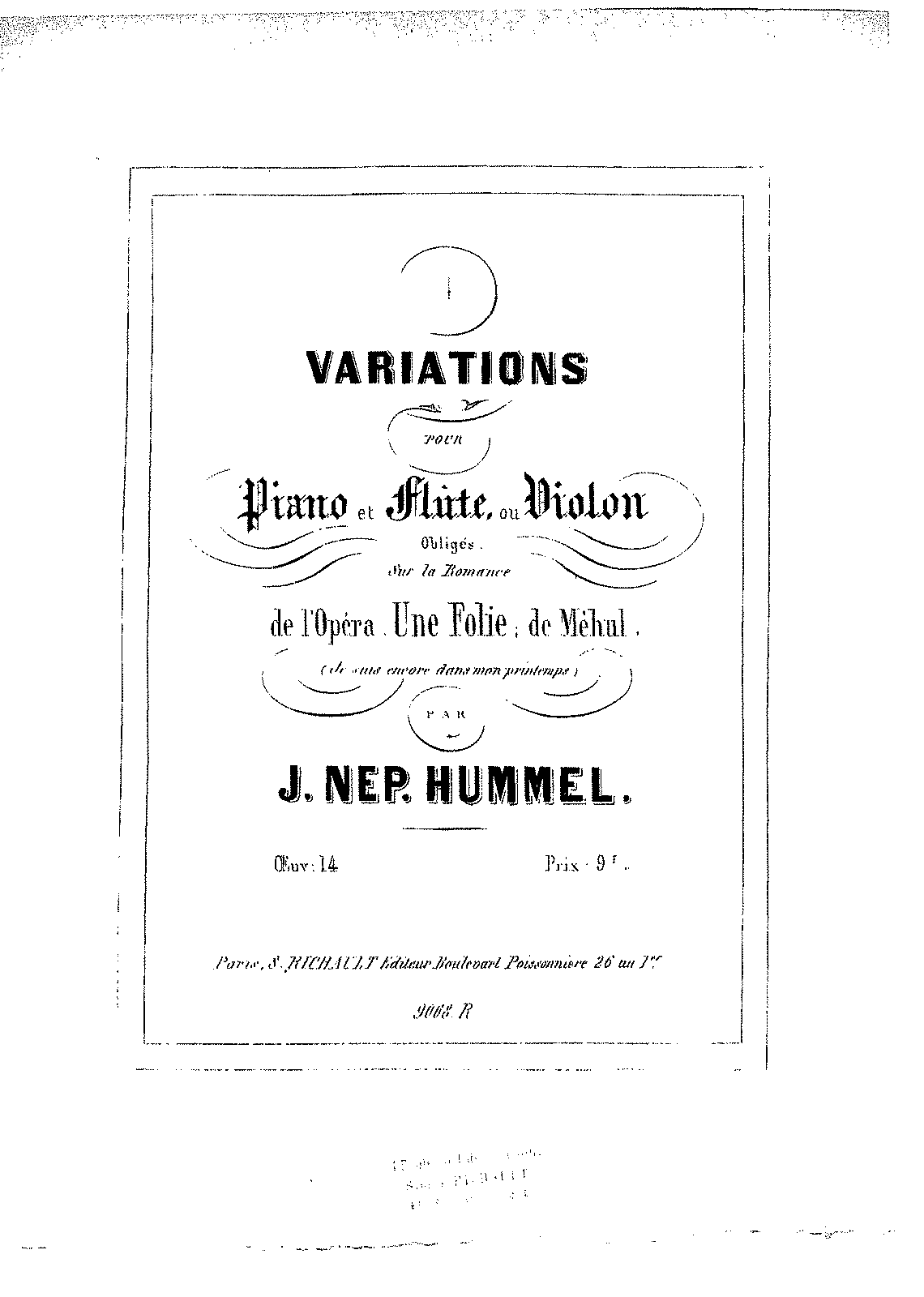 PMLP50449-Hummel - 014 - Variations on 'Une folie' (Mehul) fl.pf..pdf