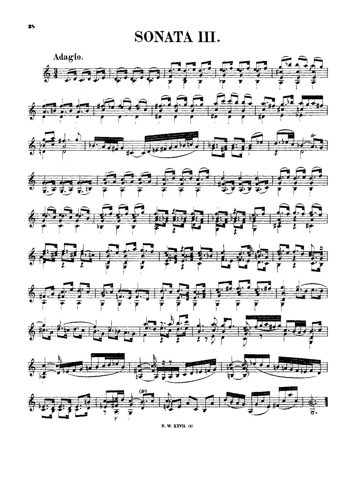 Violin Sonata No.3 in C major, BWV 1005 (Bach, Johann Sebastian ...