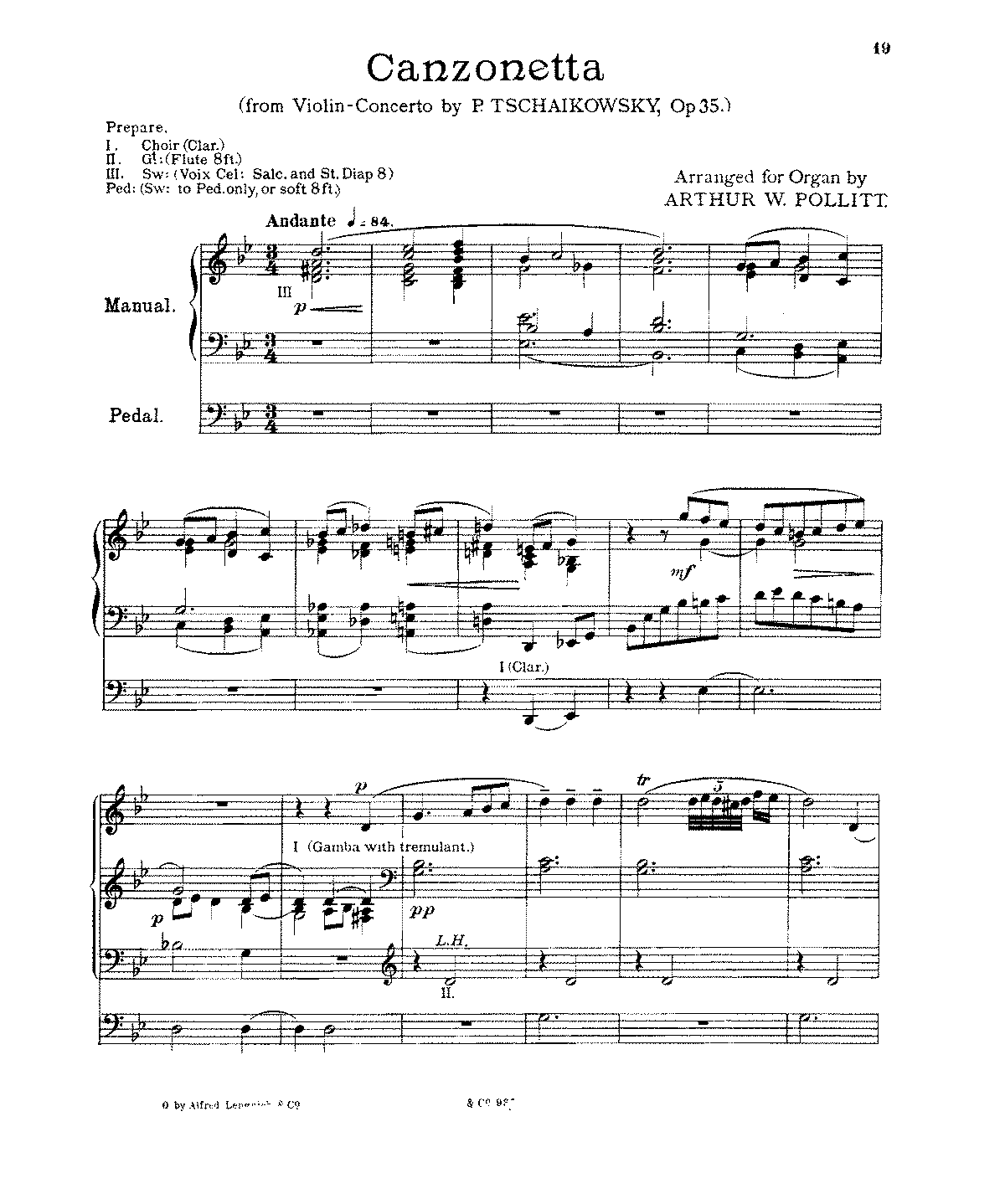 Free Sheet Music Public Domain: Violin Concerto, Op.35 (Tchaikovsky, Pyotr)