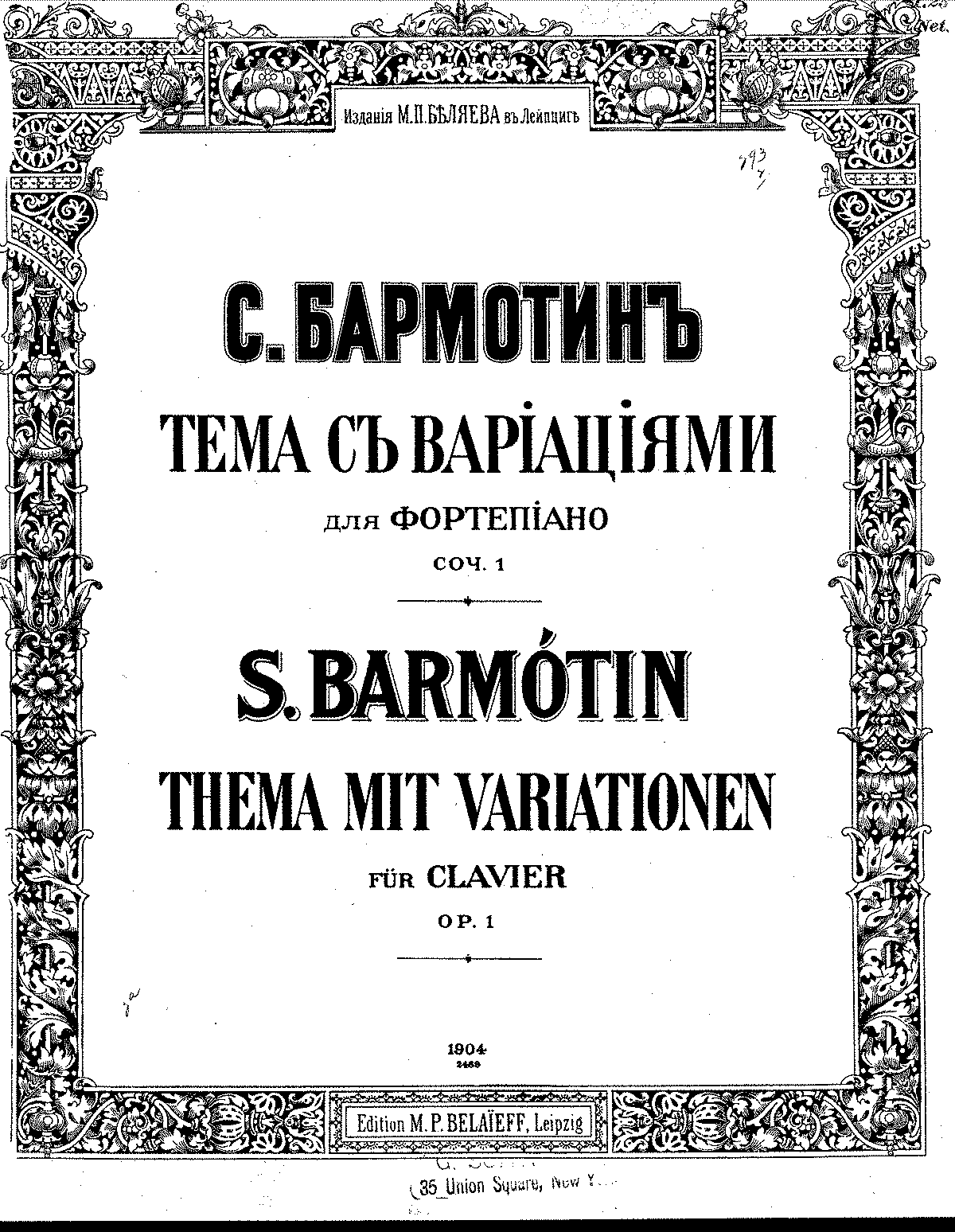 Barmotin, Semen - Theme with variations, Op.1.pdf