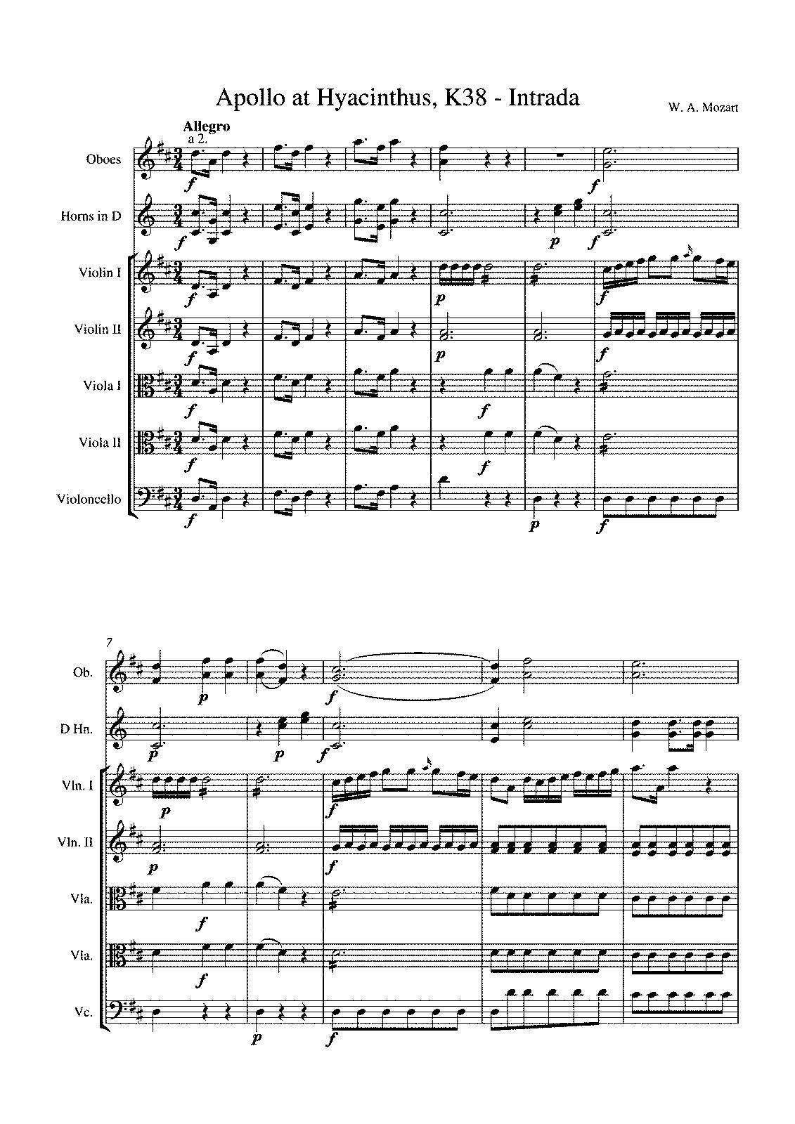 ascanio in alba piano sheet music