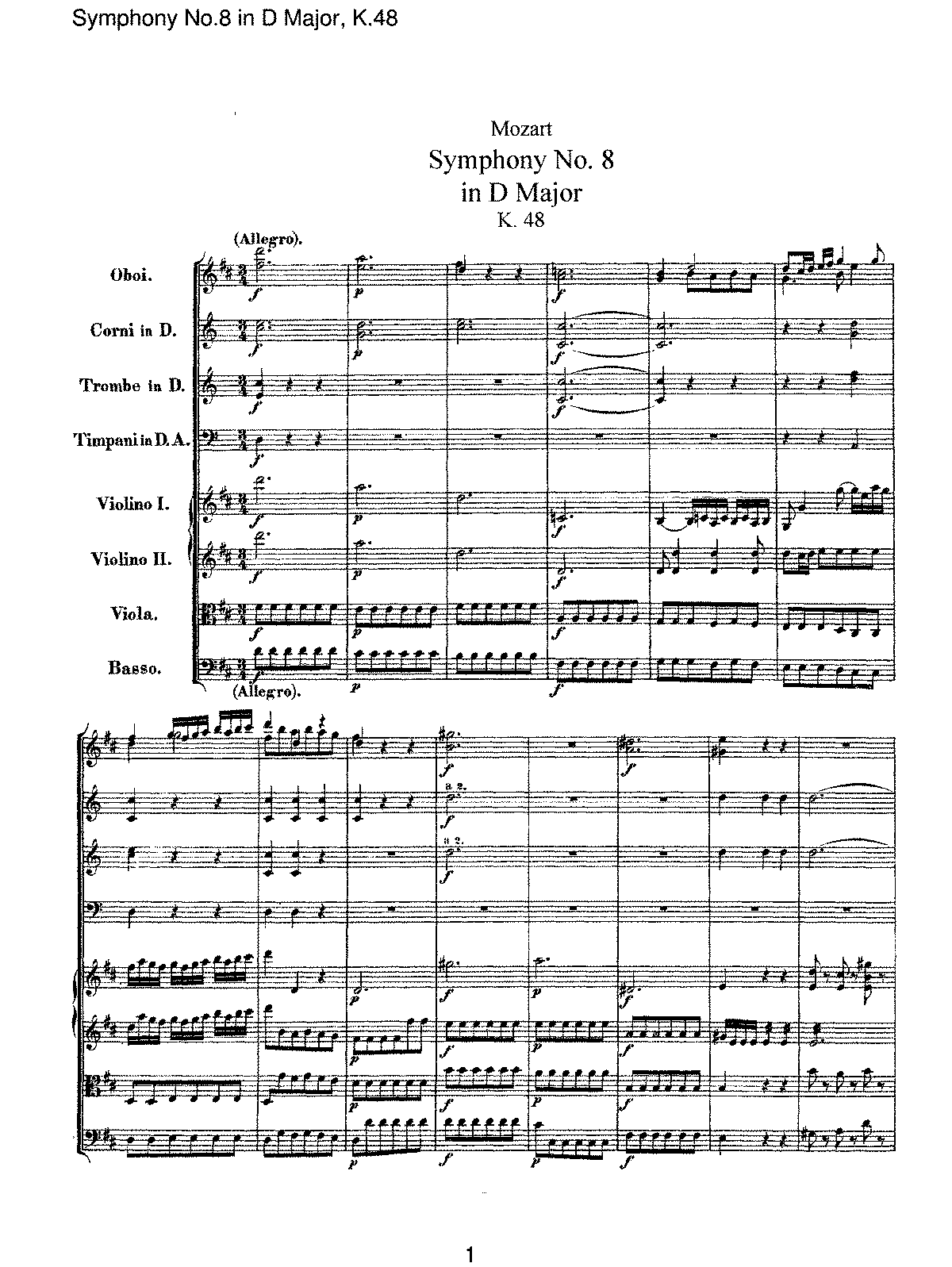 Mozart - Symphony No 08 in D Major, K48.pdf